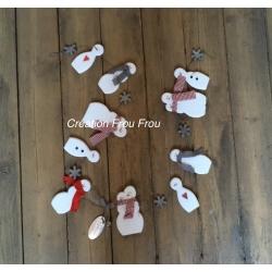 Guirlande Bonhommes de neige